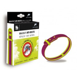 Bracelet anti-insecte naturel (prune/vert anis)