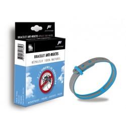 Bracelets anti-insecte naturel (bleu/gris)